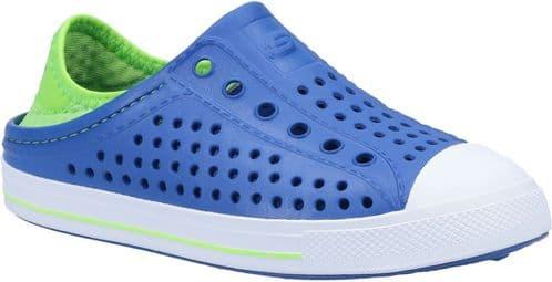 Skechers Guzman Steps Aqua Surge Childrens Beach Blue / Lime